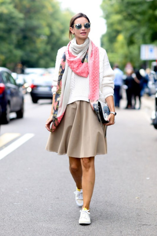 Picture Of cool ideas to wear a scarf stylishly this spring  2