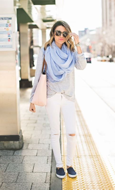 Picture Of cool ideas to wear a scarf stylishly this spring  5