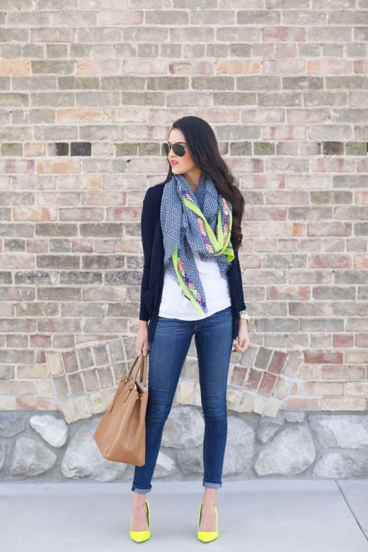 Picture Of cool ideas to wear a scarf stylishly this spring  6