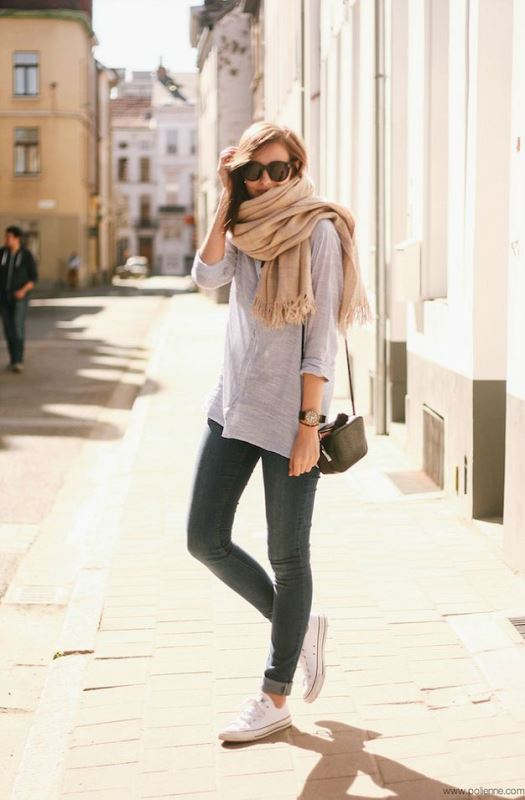 Picture Of cool ideas to wear a scarf stylishly this spring  7