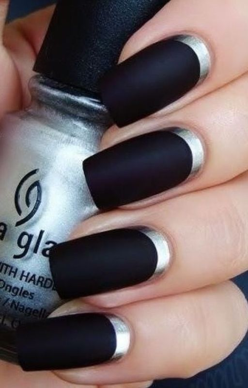 Picture Of matte and hot manicure ideas  1