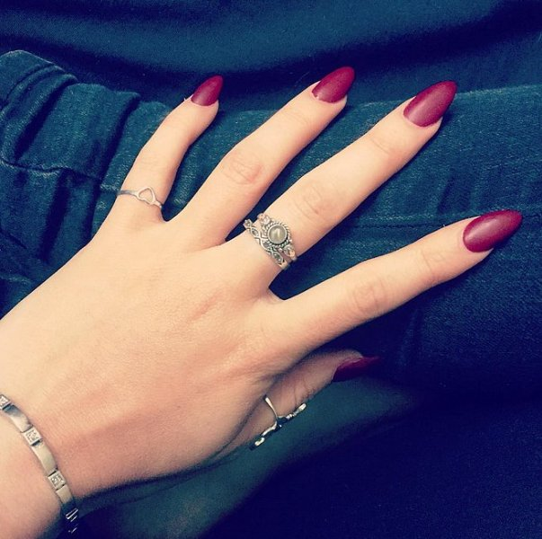 Picture Of matte and hot manicure ideas  10