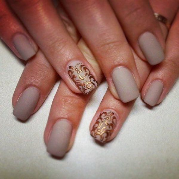 Picture Of matte and hot manicure ideas  11