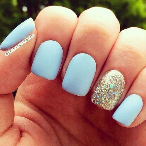 Picture Of matte and hot manicure ideas  12