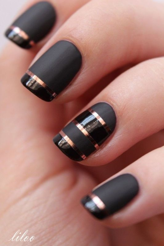 Picture Of matte and hot manicure ideas  13