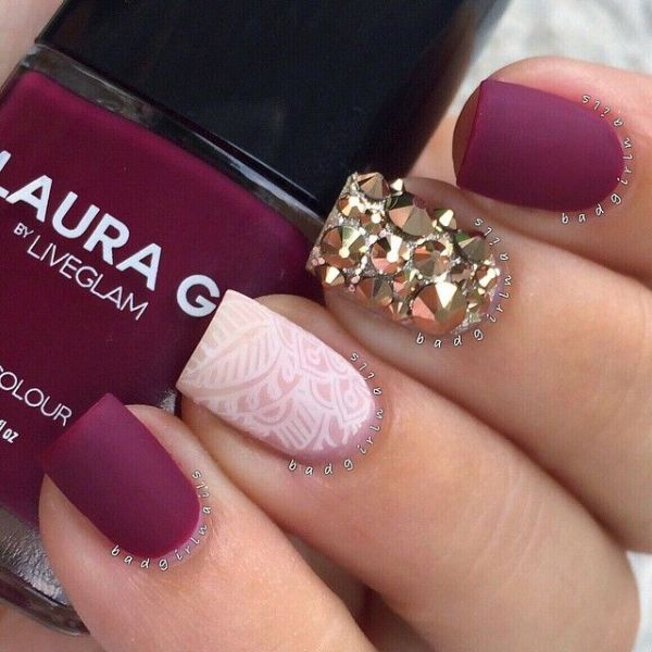 Picture Of Matte And Hot Manicure Ideas 15-8450