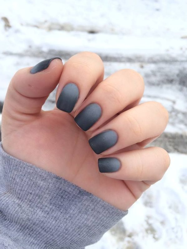 Picture Of matte and hot manicure ideas  16