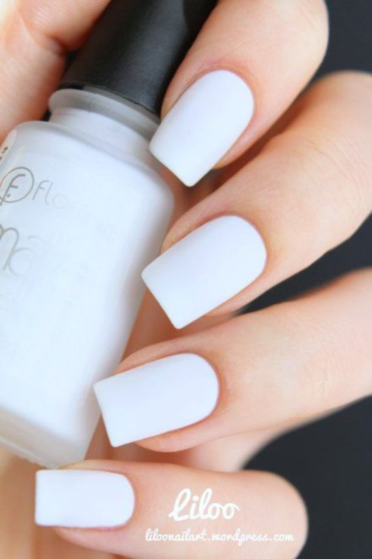 Picture Of matte and hot manicure ideas  17