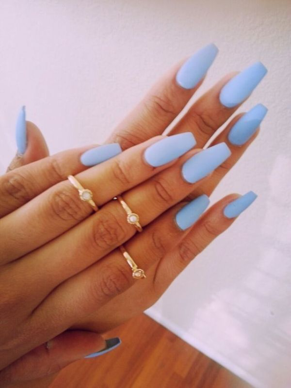 Picture Of matte and hot manicure ideas  18