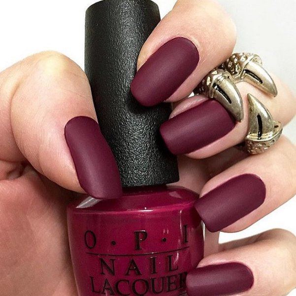 Picture Of matte and hot manicure ideas  19