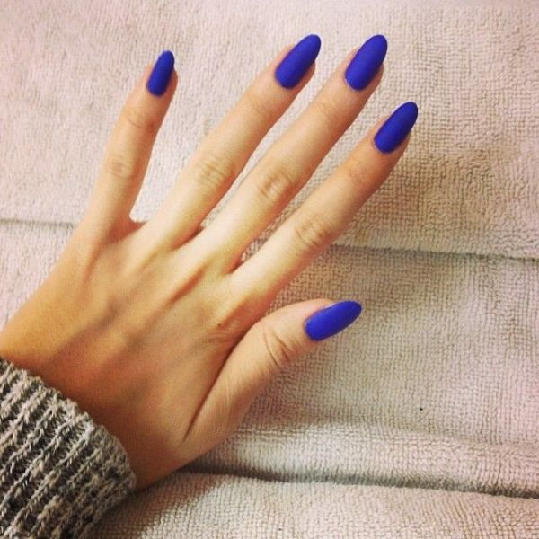 Picture Of matte and hot manicure ideas  2