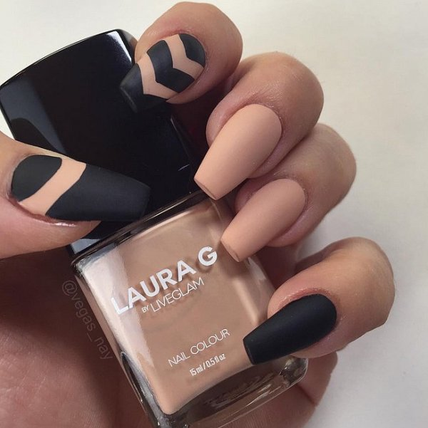 Picture Of matte and hot manicure ideas  5