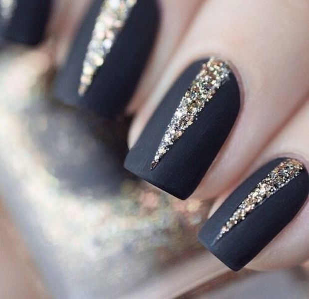 Picture Of matte and hot manicure ideas  7