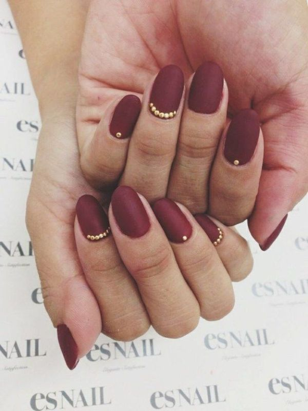 Picture Of matte and hot manicure ideas  8