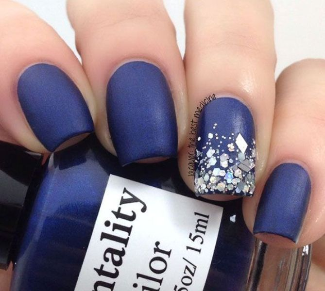 Picture Of matte and hot manicure ideas  9