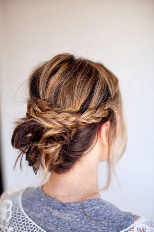 Picture Of stylish pulled back hairstyles for long locks  10