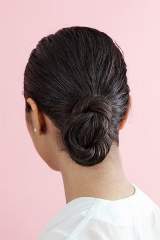 Picture Of stylish pulled back hairstyles for long locks  11