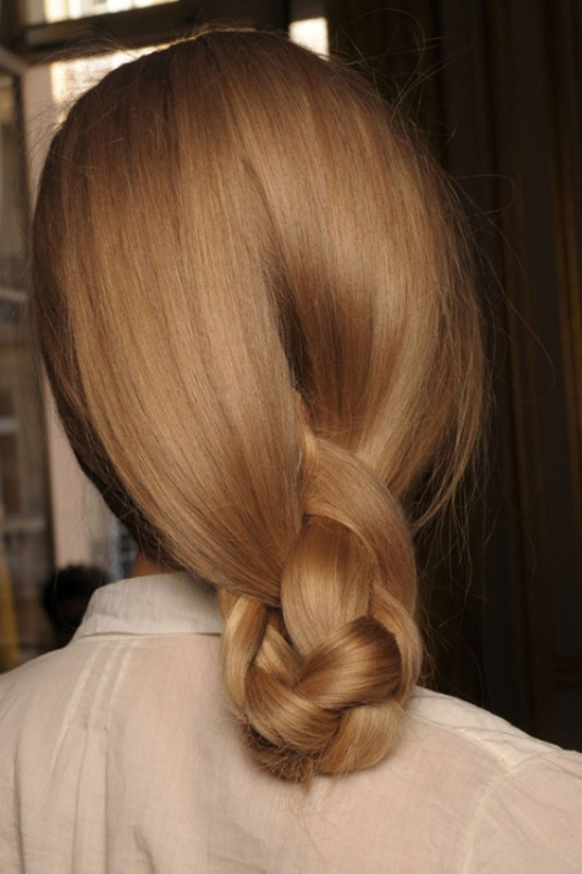 Picture Of stylish pulled back hairstyles for long locks  13