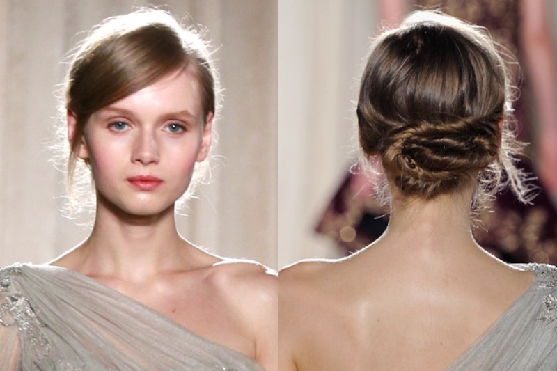 Picture Of stylish pulled back hairstyles for long locks  14