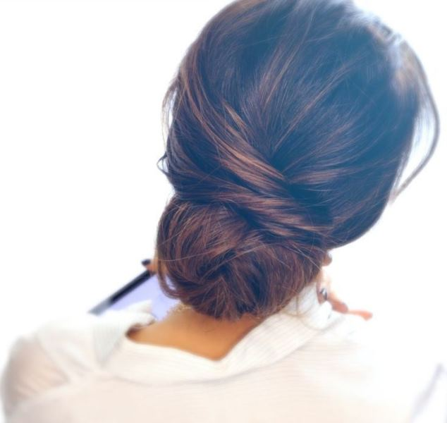 Picture Of stylish pulled back hairstyles for long locks  15