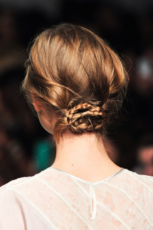 Picture Of stylish pulled back hairstyles for long locks  19