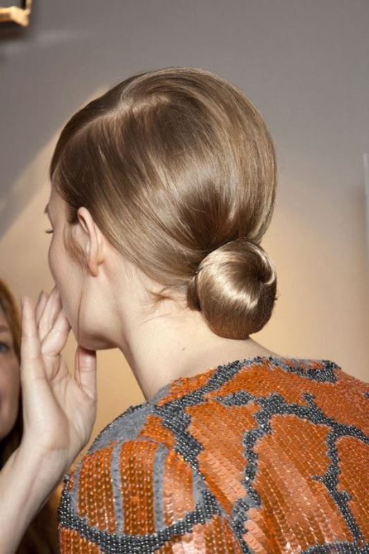 Picture Of stylish pulled back hairstyles for long locks  2