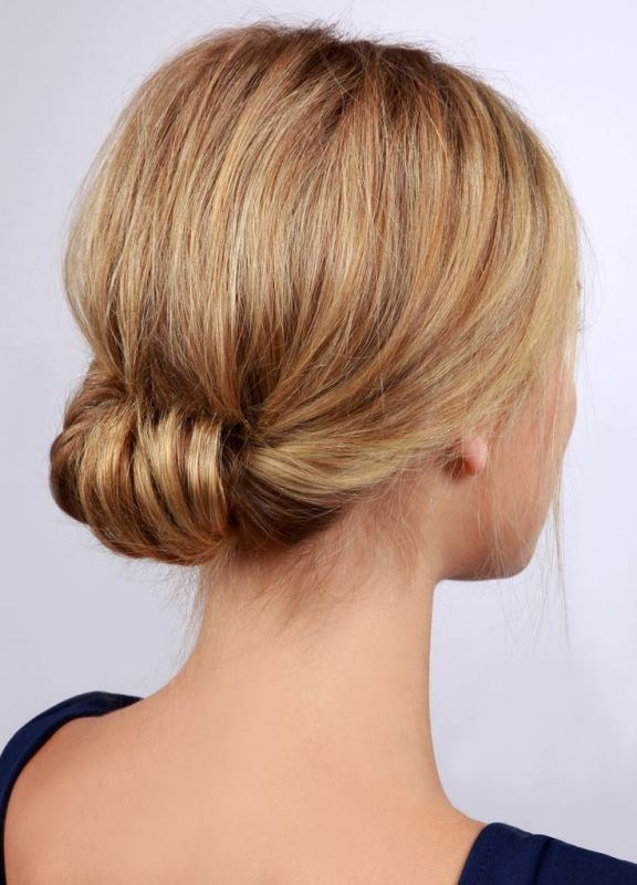 Picture Of stylish pulled back hairstyles for long locks  3