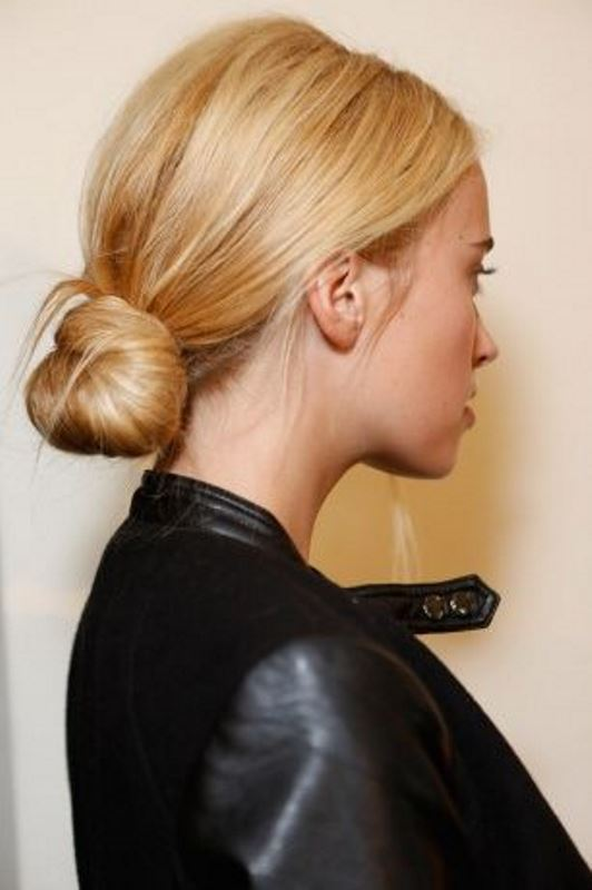 Picture Of stylish pulled back hairstyles for long locks  5