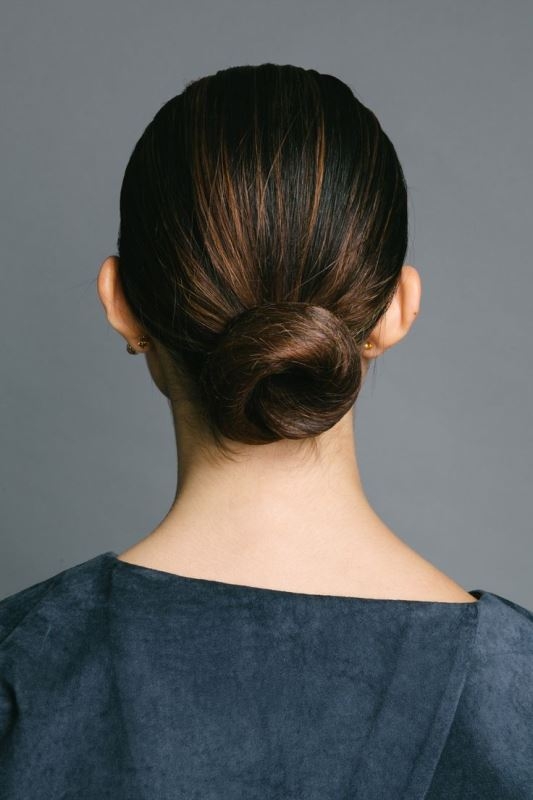 Picture Of stylish pulled back hairstyles for long locks  8