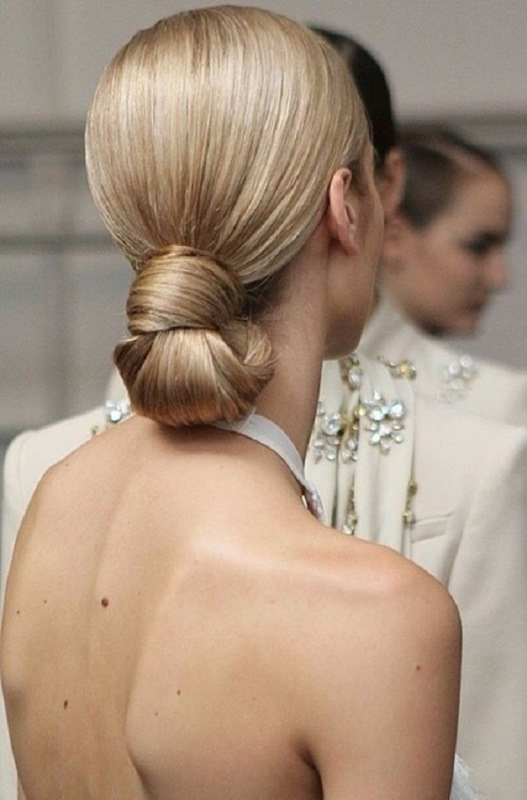 Picture Of stylish pulled back hairstyles for long locks  9