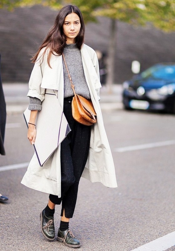 Picture Of stylish ways to wear socks this fall  1