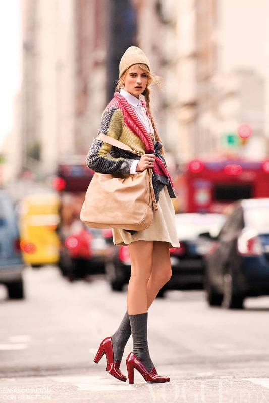 Picture Of stylish ways to wear socks this fall  11