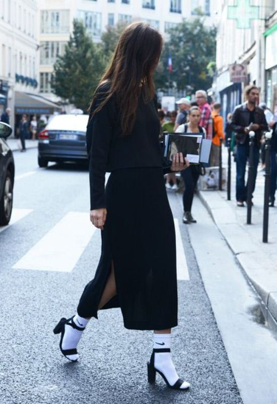 Picture Of stylish ways to wear socks this fall  12