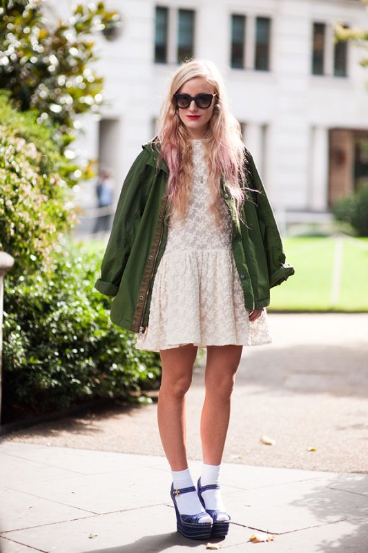 Picture Of stylish ways to wear socks this fall  13