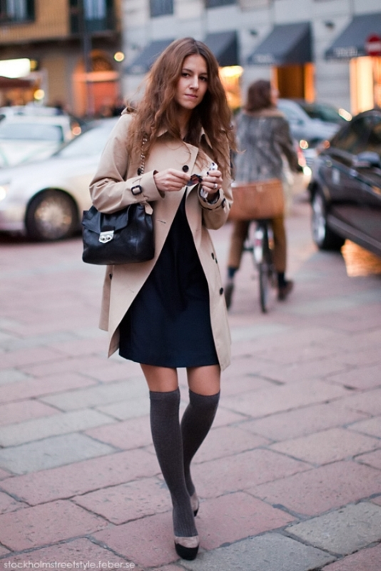 Picture Of stylish ways to wear socks this fall  14