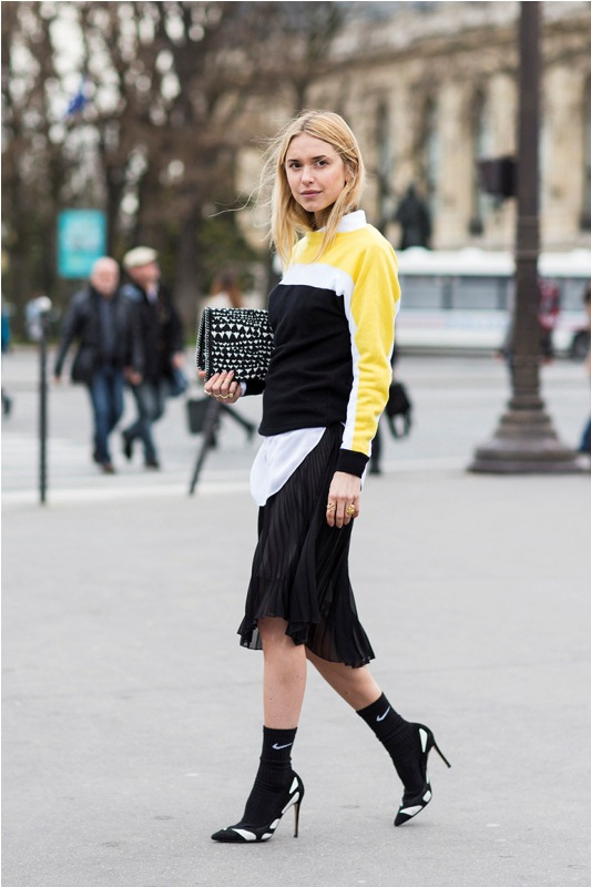 Picture Of stylish ways to wear socks this fall  15