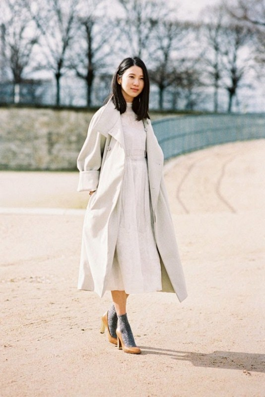 Picture Of stylish ways to wear socks this fall  19