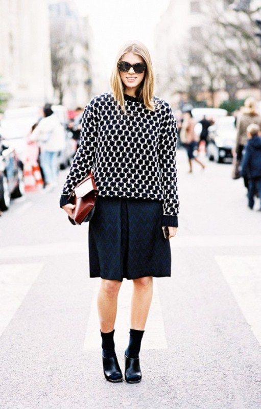 Picture Of stylish ways to wear socks this fall  2