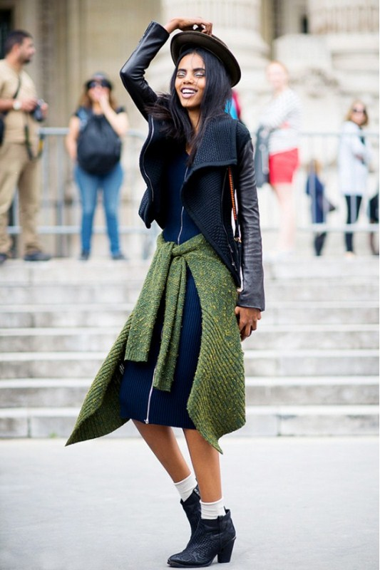 Picture Of stylish ways to wear socks this fall  3