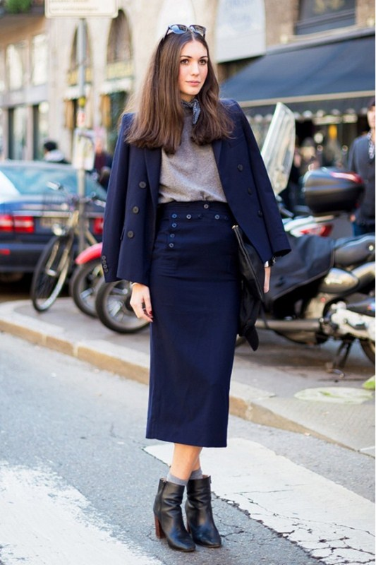 Picture Of stylish ways to wear socks this fall  7