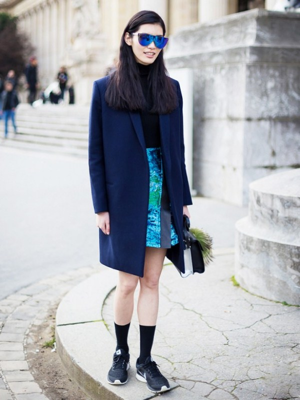 Picture Of stylish ways to wear socks this fall  8