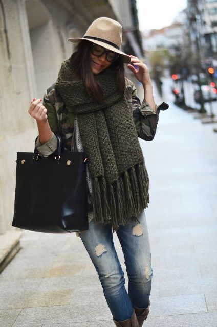 Picture Of Amazing Oversized Scarves For Fall And Winter 9