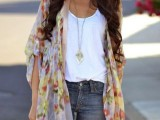 20 Cool Outfits With A Kimono Jacket For This Summer