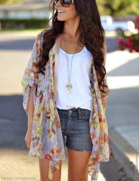 Жакет кимоно: с чем носить лёгкий летний вариант