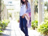 20 Cool Outfits With A Kimono Jacket For This Summer11