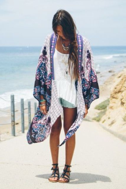 Picture Of Cool Outfits With A Kimono Jacket For This Summer 13