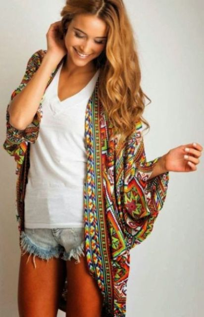 Picture Of Cool Outfits With A Kimono Jacket For This Summer 15