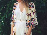 20 Cool Outfits With A Kimono Jacket For This Summer16