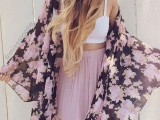 20 Cool Outfits With A Kimono Jacket For This Summer20