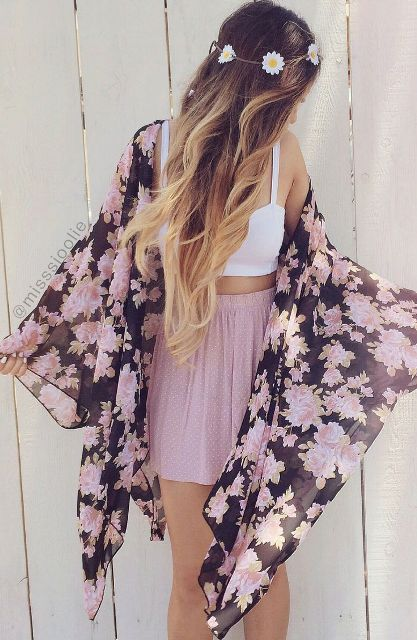 Picture Of Cool Outfits With A Kimono Jacket For This Summer 20